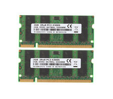 4GB (2x 2GB) 2GB PC2-5300 DDR2 667MH​z 200pin Sodimm Laptop Notebook Memory RAM