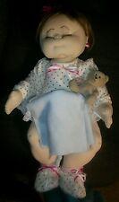 "Handmade Cloth Doll 20 "" chunky chubby jointed baby girl stocking doll"