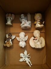 Lot Of 7 Small Angel Figurines