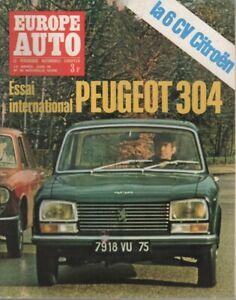 EUROPE AUTO 1970 39 PEUGEOT 304 FIAT 125 SIMCA 1000 RALLYE RENAULT 8 S 24H MANS