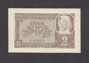 2 ZLOTE AUNC BANKNOTE FROM GERMAN OCCUPIED POLAND 1940 PICK-92