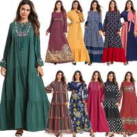 Ramadan Muslim Women Abaya Long Maxi Dress Islam Loose Robe Kaftan Dubai Jilbab