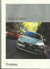 VAUXHALL CORSA CLUB,GLS,COMFORT,ELEGANCE,SXi & SRi SALES BROCHURE 2001 EDITION 2