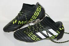 Adidas Nemeziz Messi 17.3 FG Soccer Shoes, #BY2413, Black/Neon/White, Mens 7