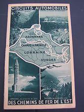 circuits automobiles chemins de fer de l'est Ardennes Champs bataille Lorraine