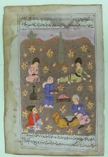 Indo Persian Gouache Miniature Painting 19th Century