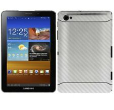 Skinomi Carbon Fiber Silver Skin Cover+Screen Guard for Samsung Galaxy Tab 7.7
