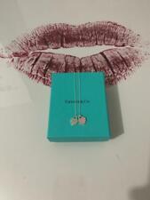 Tiffany Double Heart Necklace Tiffany Pink Silver