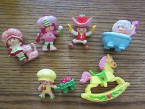 Lot of 6 Vintage Miniature Strawberry Shortcake PVC Figures miniature