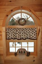 Northwoods Lodge Bear Moose Cabin Country Curtain Valance