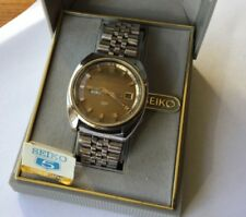 "Vintage Seiko Automatic Watch ""5"" off-set crown with box Mens"