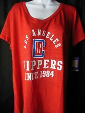 7ff319ac769 Los Angeles Clippers Women s Soft As A Grape V Neck Tee Shirt Size 1X Plus  Size