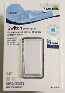 Leviton Decora Z-Wave 15A Switch DZS15~Control Light(s) From One Location