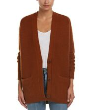 VINCE RIB TRIM WOOL & CASHMERE CARDIGAN SWEATER MISSES M NWT$495