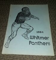 WHITMER PANTHERS FOOTBALL YEARBOOK PROGRAM Year In Review 1984 Vtg TOLEDO OHIO