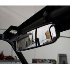 "Clamp ATV UTV 15"" Rear View Race Mirror Fits For Polaris Yamaha Honda Adjustable"