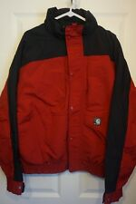 Carhartt Black Red Full Zip Up Mesh Lined Jacket Mens Large/XL