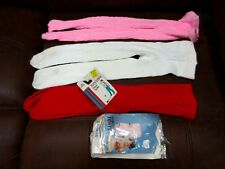 Vintage Lot 4 Pair Orlon & Nylon Toddler Tights w/Packages
