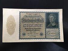 GERMANY DEUTSCHES REICHSBANKNOTE 1922 10000 MARK NOTES BANKNOTE 00045017