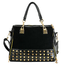 Korean Fashion Women Ladies Rivet Tote Shoulder Messenger Hobo Handbag Bags