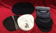 Vintage Lot 7 Men's Hat Kangol Beret Greek Fisherman's Cap Gatsby Cabbie Flat