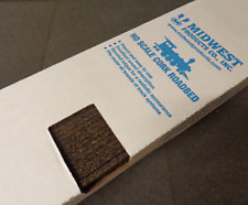 Midwest Products #3013  HO Scale 3' lengths Cork Roadbed - Box of 25