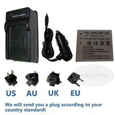 DB-L20 battery+charger for Sanyo Xacti VPC-CA8EX VPC-CA8 VPC-CA65 VPC-CA9