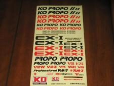 Ko Propo Vintage Decal Sheet EXI EX-I Logo RC R/C Japan Masami Hirosaka Radio RC