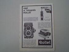 advertising Pubblicità 1965 ROLLEI 16/ROLLEIFLEX