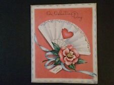 vintage valentines day card embossed cover with foil window