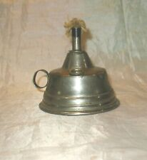 New listing Antique Metal Alcohol / Oil Handled Finger Lamp Nickeled Brass