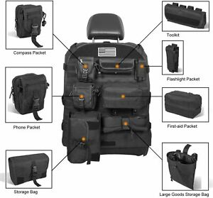 Front Seat Cover Organizer Storage Bag Molle Pouch for Jeep Wrangler JK JL