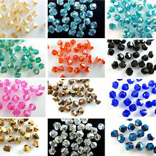 Wholesale 500pcs bicone crystal glass 5301# 4mm/ 6mm Loose Spacer Beads Fingings
