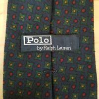 Polo Ralph Lauren Necktie Navy Blue Geometric Holiday 100% Wool USA