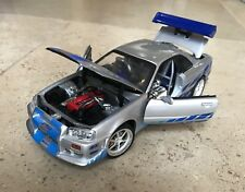 2001 Nissan Skyline R34 '2 Fast 2 Furious' 1/18 Diecast Model Car Paul Walker