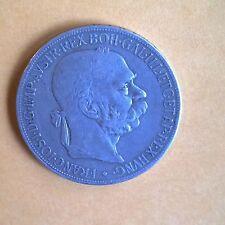 1900 5 CORONA AUSTRIA   SILVER COIN - HIGH GRADE