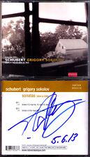 Grigory Sokolov signée SCHUBERT Piano Sonata d960 894 piano Sonaten 2cd naïve