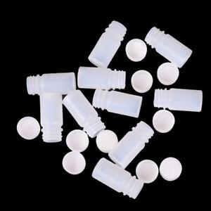 10x Plastic Reagent Bottles Medicine Sample Vials Liquid Holder Useful Tool N w/