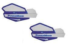 PowerMadd Star Series Replacement ATV Handguards Hand Guards Blue White 34221