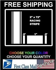 "2"" x 72"" Vinyl Racing Stripe Pinstripe Decals Stickers *13 COLORS* Stripes 6 YR"