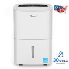 Shinco 30 Pint Dehumidifier for Rooms, Basement, Bathroom,Ultra-Quiet,1500 sq.ft