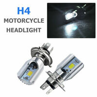 Motorcycle Cool H4 White Headlight 3030 6500K LED Hi-Lo Beam Light Lamp Bulb