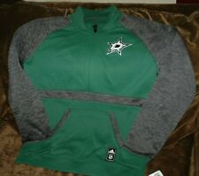 Dallas Stars 1/4 zip fleece pullover jacket women's small Adidas NHL winter