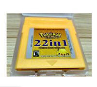 Pokemon Series NDSL GB GBC GBM GBA 22 in 1 Cartridge Set For Video Games Classic