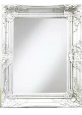 White Wall Mirror 40x50cm Shabby Chic Vintage French Home Bathroom Wall Decor