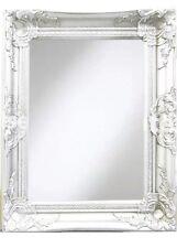 White Wall Mirror 40x50cm Shabby Chic Home Salon Bathroom Wall Decor Gift