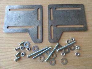 Bed Frame Headboard, Footboard, Rail Bracket Modification Plates + ALL Hardware