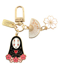 """Spirited Away """"No-Face"""" Cherry Blossom Keychain Airpod Accessories"""
