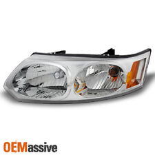 2003-2007 Saturn Ion 4 Doors Sedan Chrome Headlight Driver Left Side Replacement (Fits: Saturn Ion)