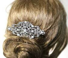 Vintage Style Crystal Wedding Pearl Hair Comb Headpiece Accessories Jewelry